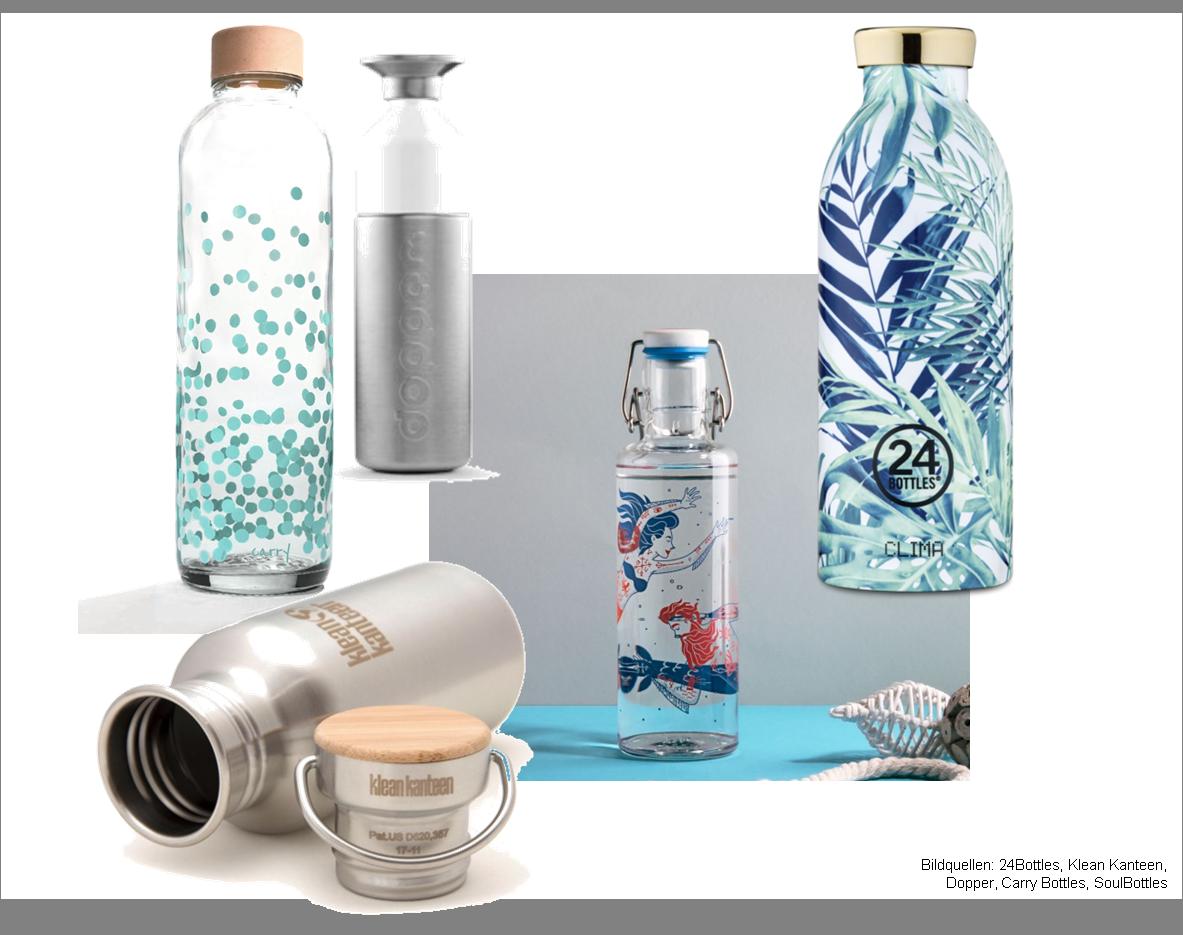 5 nachhaltige Trinkflaschen - der Vergleich